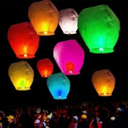 10/20/30/50pcs Paper Chinese Lanterns Sky Fly Candle Lamp fo