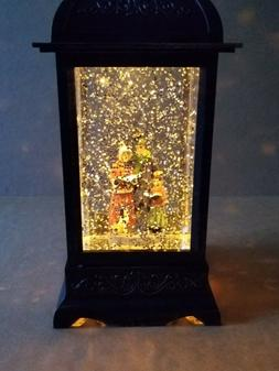 """GERSON 10.5""""H BATTERY OPERATED LIGHTED HOLIDAY SPINNING WATE"""