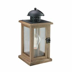 """Gerson 10"""" Brown and Black LED Lighted B/O Square Hanging In"""