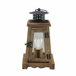 """Gerson 10"""" Brown and Black LED Lighted B/O Trapezoid Hanging"""