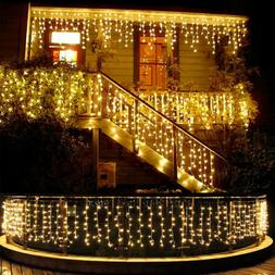 13-130FT LED Fairy Icicle Curtain Lights Party Indoor Outdoo