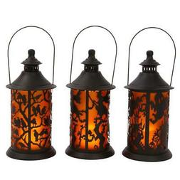 Gerson 14.17 In H Assorted Halloween Metal Themed Lanterns W
