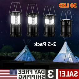 2-5 x LED Camping Light Collapsible Lamp Ultra Bright Portab