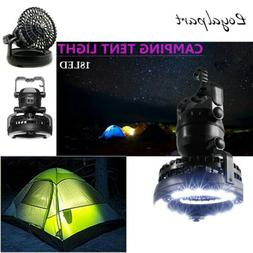 2 In 1 Tent Lamp Portable LED Camping Light W/Ceiling Fan Ou