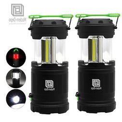 2 Pack Ultra Bright Collapsible LED Camping Lantern Cob Flas