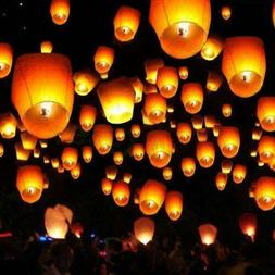 20 Pack Sky Lanterns Chinese Paper Candle Lamp Fly for Wish
