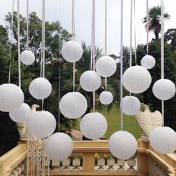 "10pc White Chinese  Paper Lanterns  Party Decorations 10"" We"
