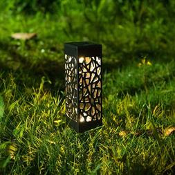 2pcs Solar Hollow LED Landscape Lawn Light Torch Garden Lant