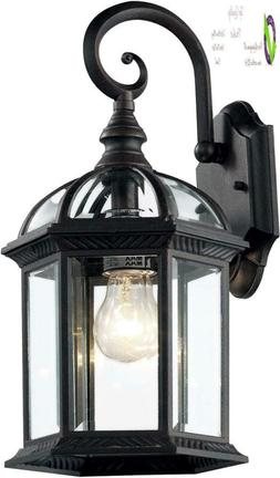"Trans Globe Lighting 4181 Bk Outdoor Wentworth 16"" Wall Lant"