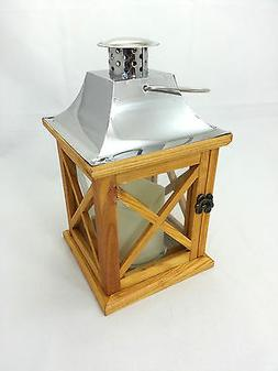 Gerson 42017 5.3x9.3 Wood Lantern, Stainless Roof NWT R$26.9