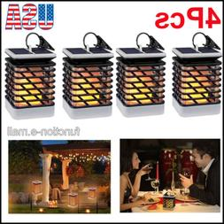 4Pcs 75LED Landscape Solar Torch Light Dancing Flickering Fl
