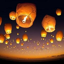 10PCS Sky Fly Candle Lamp Paper Chinese Lanterns Light Wishi