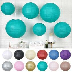 8 pcs assorted sizes hanging paper lanterns