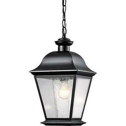 Kichler Lighting 9809BK Mount Vernon 1-Light Outdoor Hanging