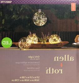 """Allen + Roth 6"""" Clear Acrylic Plastic LED Orb Light Outdoo"""