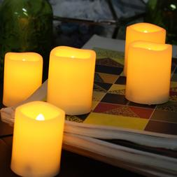 6 PCS Battery Operated Flameless Votive Candles with Timer 2