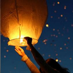 Biodegradable 5PCS Sky Fly Lamp Paper Chinese Lanterns Light