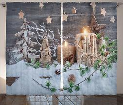 Christmas Vibes Curtains 2 Panel Set Decoration 5 Sizes Wind