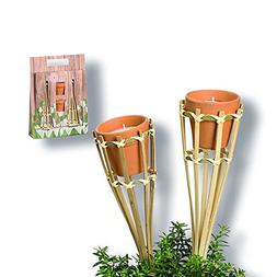 Whole House Worlds The Citronella Wax Candle Kit, Includes 2