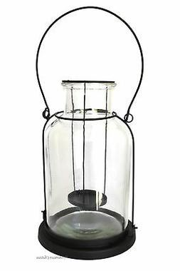 Clear Hanging / Tabletop Candle Glass Bottle Shaped Indoor/O