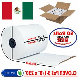 CLOVER STATION PoS 3 1/8 x 230 THERMAL RECEIPT PAPER - 50 NE