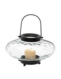 Deco 79 Metal Gourd Style Glass and Iron Lantern with Easy C