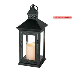 """Everlasting Glow Indoor/Outdoor 6"""" X 14"""" Lantern And Led Can"""