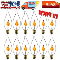 Flicker Flame Bulb Candelabra Base Flickering Light Incandes