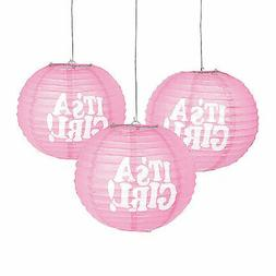It'S A Girl Hanging Paper Lanterns - Party Decor - 3