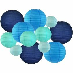 Just Artifacts Assorted Blues Paper Lanterns – Designs by