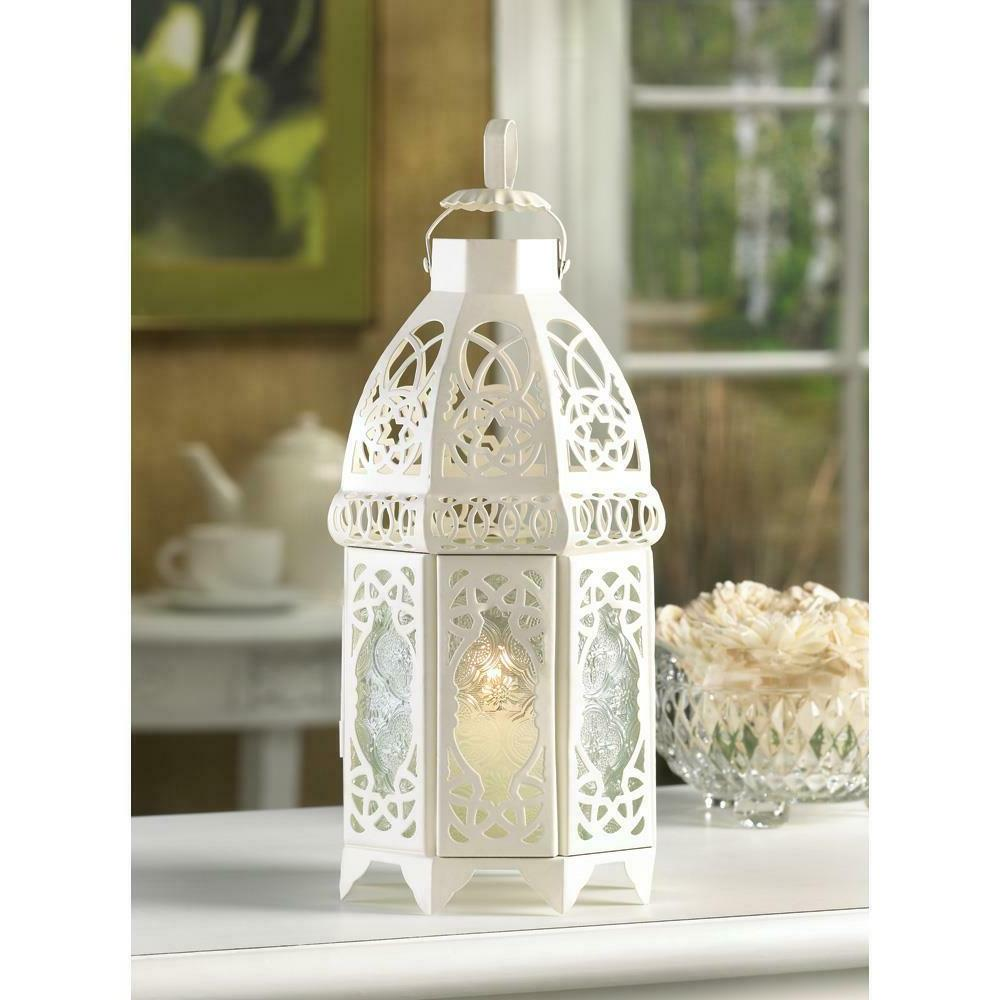 20 white lacy lattice moroccan