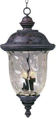 Carriage House DC Outdoor Hanging Lantern in Oriental Bronze