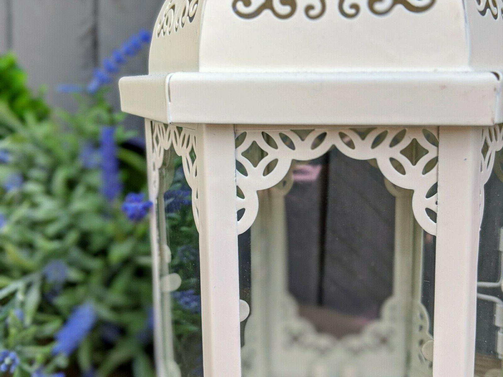 Decorative Metal Candle Lantern in Vintage Style