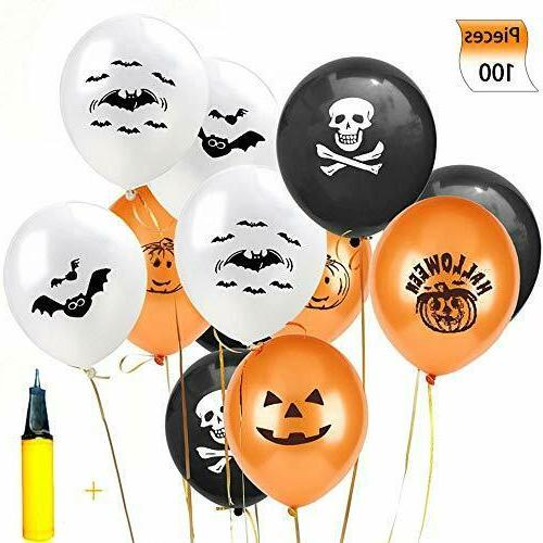 Sorive Halloween Balloons Decorations - 100 Pieces 12 Inches