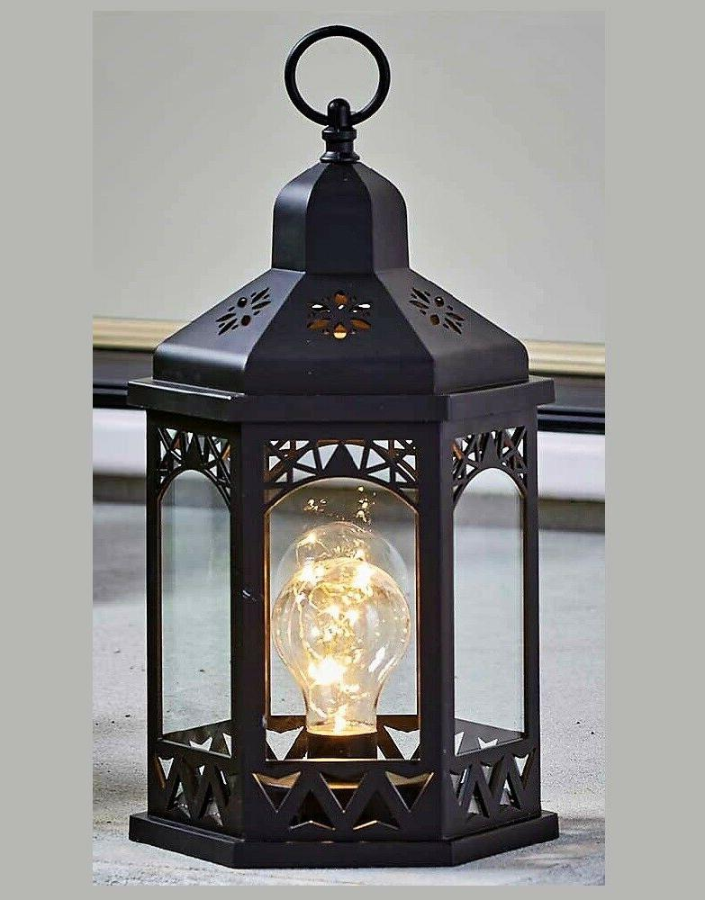 Hanging Tabletop Lighted Lantern Home Garden Decor Indoor Ou