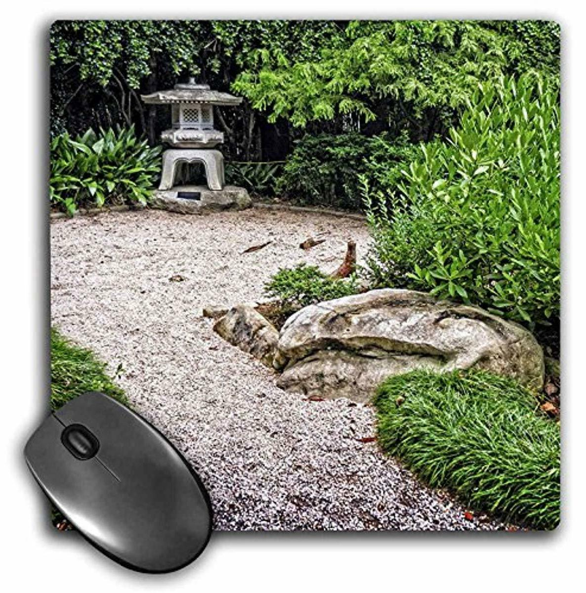 3dRose Japanese Stone Lantern, Mouse Pad, 8 by 8 inches