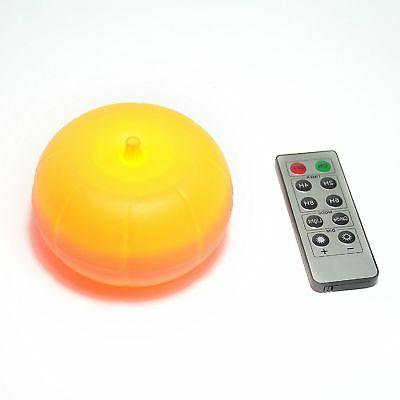 led pumpkin light with remote and timer