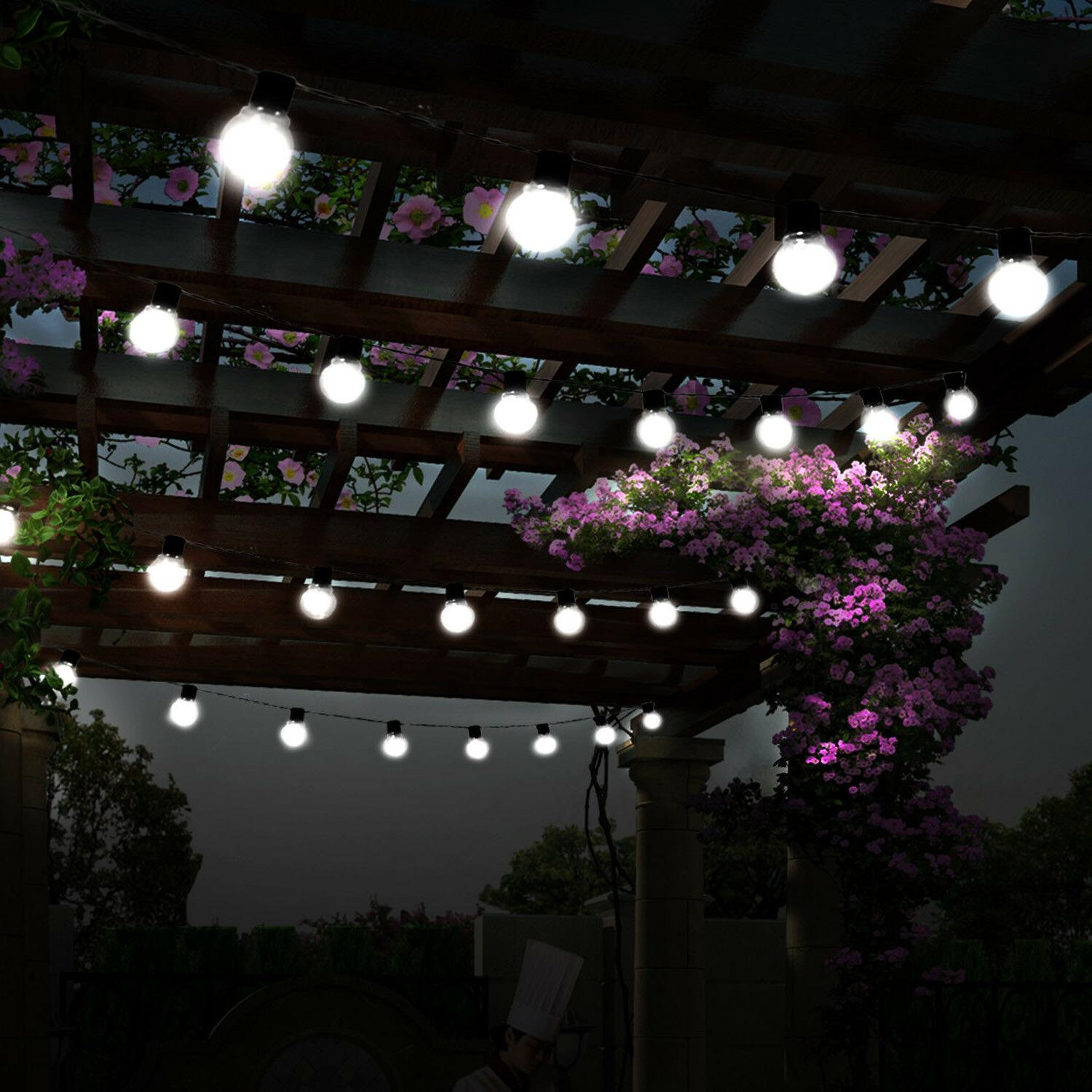 LED String Ball Lights Outdoor Waterproof White Decor