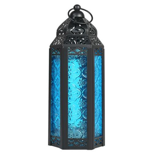 moroccan candle holder lantern embossed colored hanging