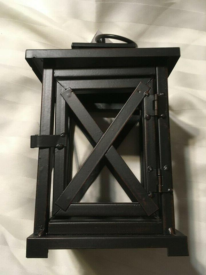 """New Metal Garden or Home 8.5"""" Tall Black"""