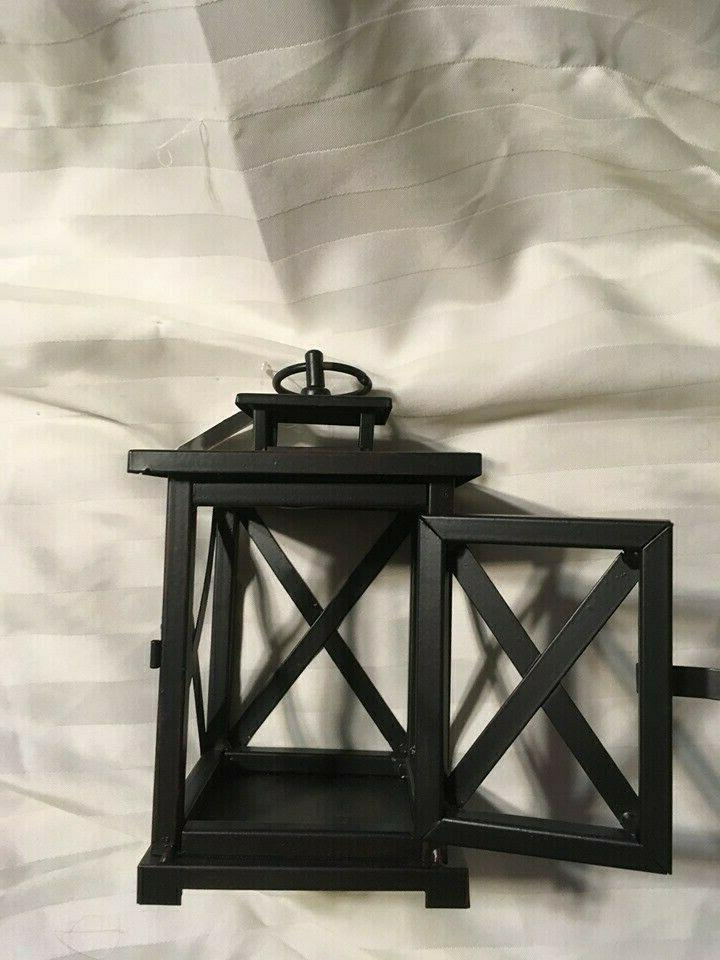 """New Darice Metal Home 8.5"""" Tall Rubbed Black"""