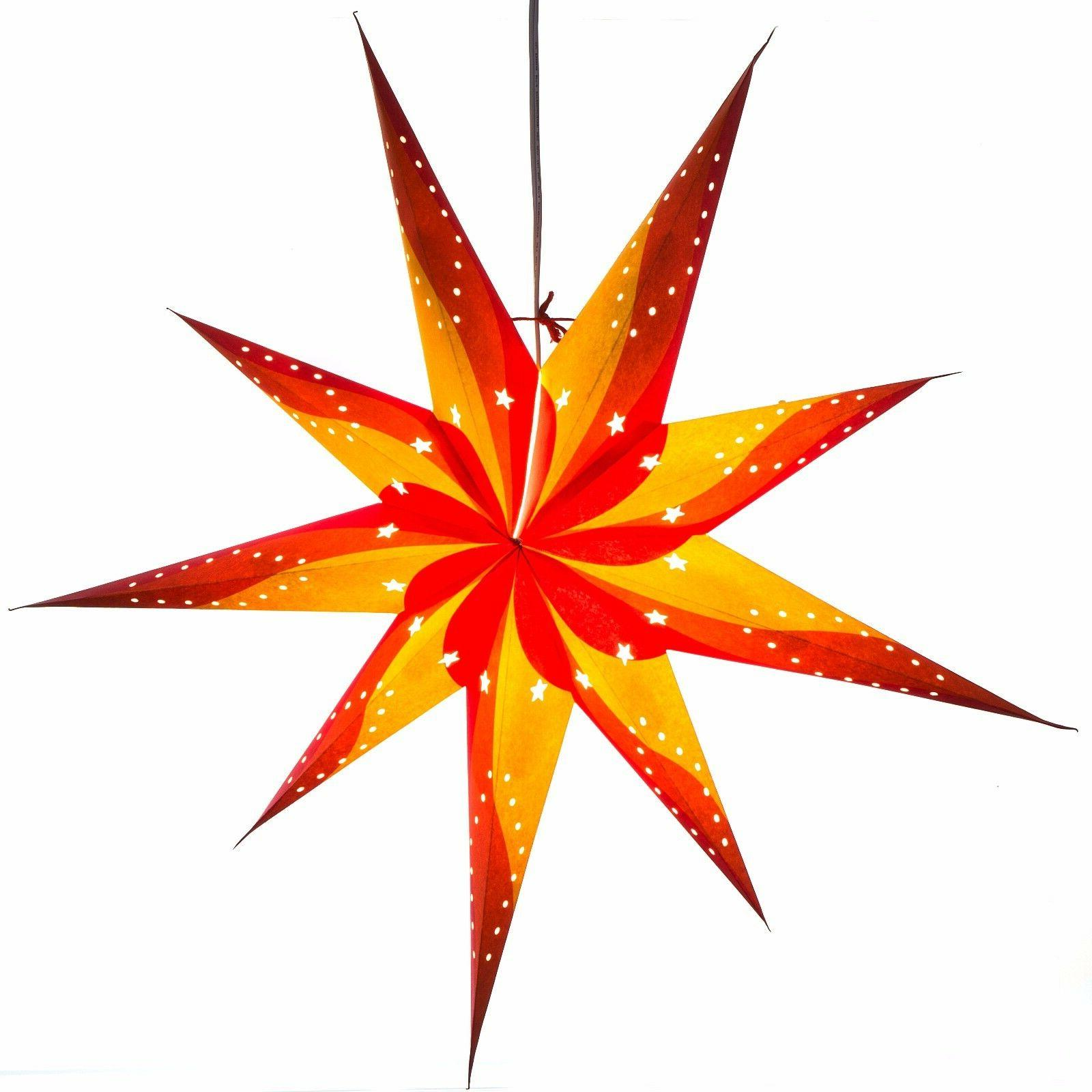 Paper - 3D Star Lantern with Foot Cord Included