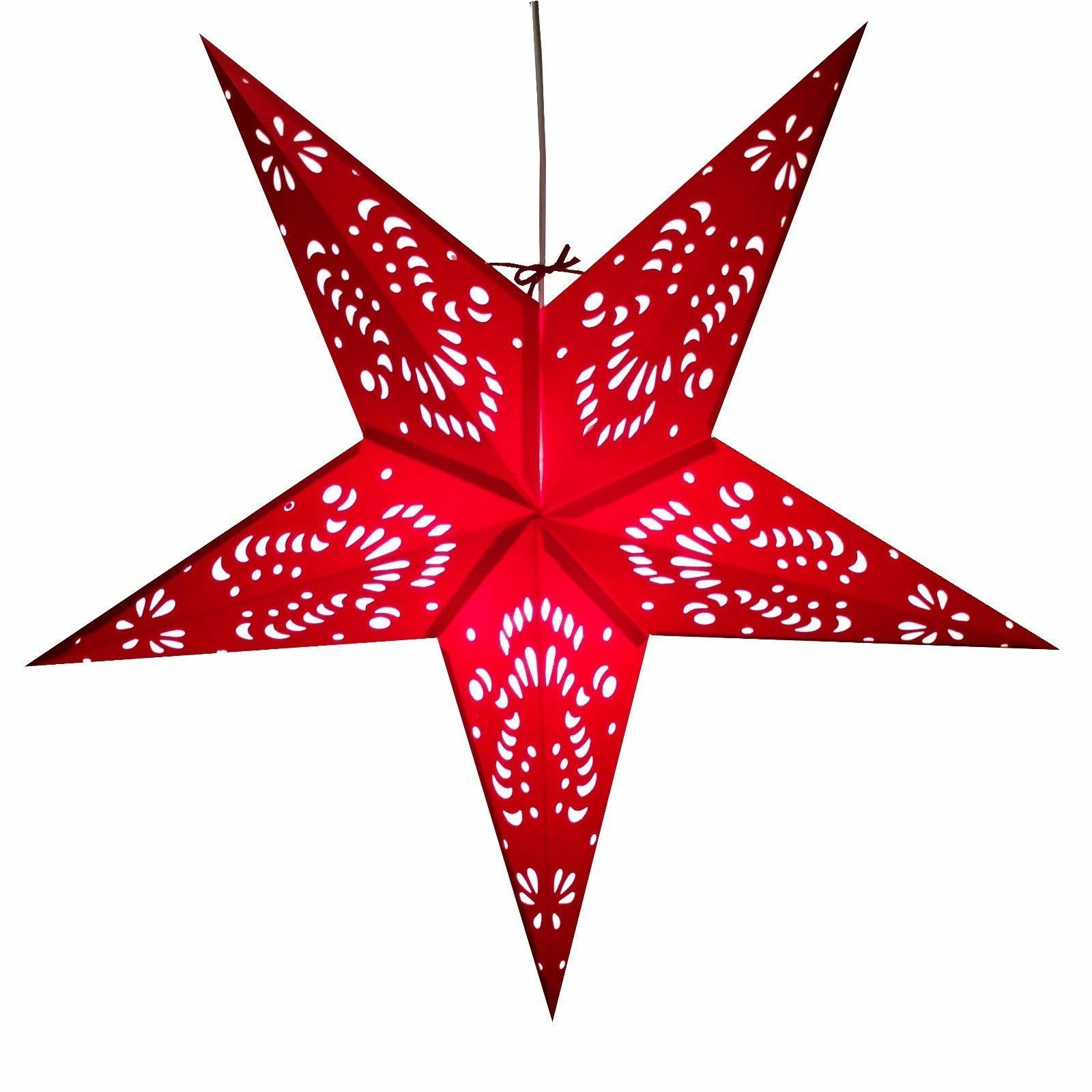 Paper Star Lights 3D Star Lantern with Cord Included