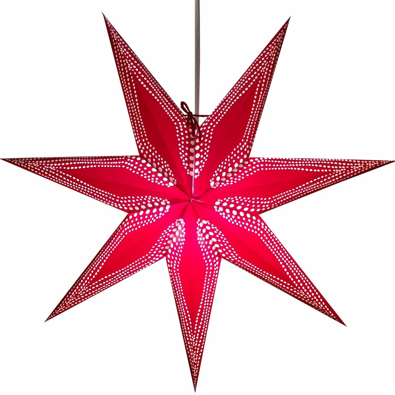 Paper - 3D Star Lantern Decorations with 12 Cord