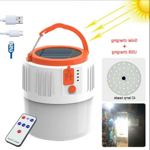 solar lamp outdoor rechargeable camping lantern hiking