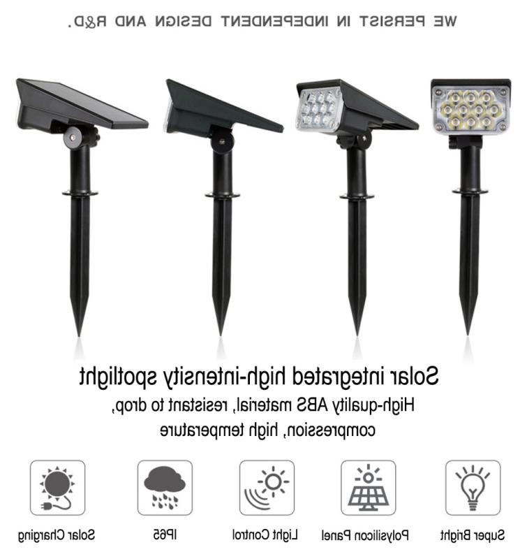 Solar 20-LED Lights Outdoor Garden Pathway Wall Lamp US