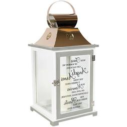 """""""Angels' Arms"""" Memorial Copper Candle Lantern"""