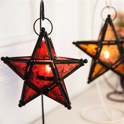 Moroccan Star Home Garden Lamps Hanging Tea light Candle Hol