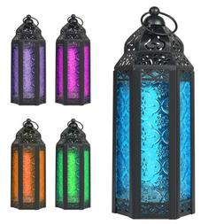 Moroccan Style Candle Lantern Candle Holder Embossed Colored