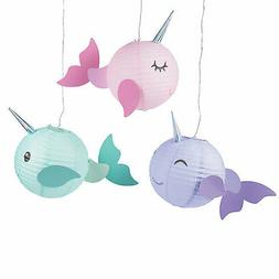 Narwhal Party Lanterns - 3 Pieces
